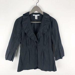 Cabi Style #693 Black Peplum Jacket Size 2